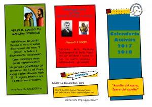 Scarica il calendario della pastorale giovanile